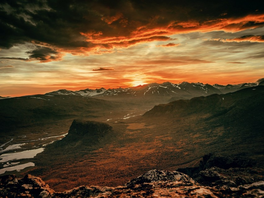 free PNG mountains, sunset, sky, overcast, clouds, landscape background PNG images transparent