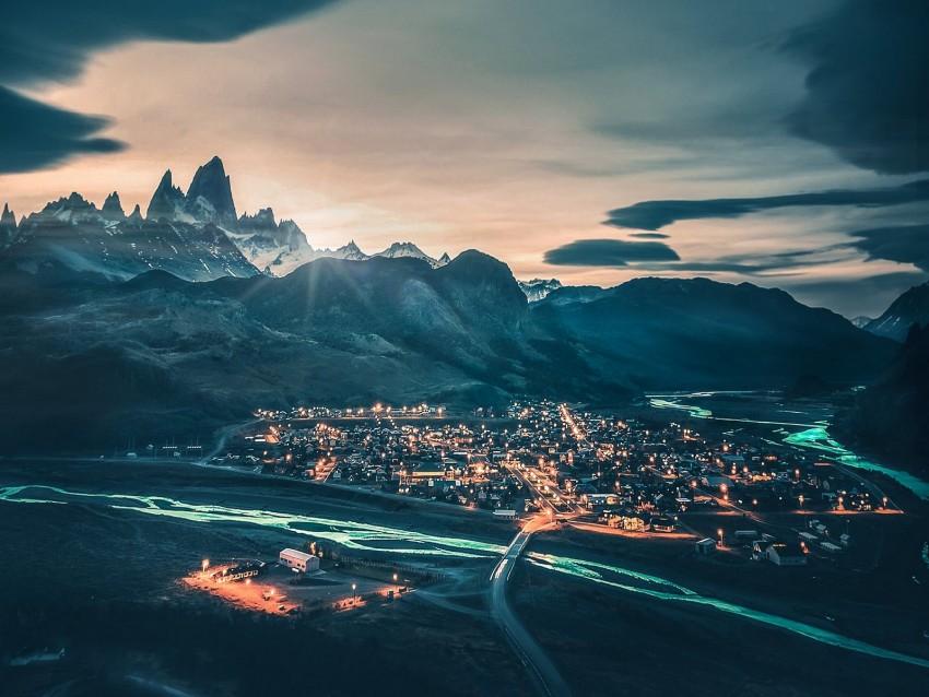 free PNG mountains, village, national park, los glaciares national park, patagonia background PNG images transparent