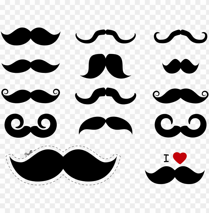 free PNG moustache png free download - mustache vector free PNG image with transparent background PNG images transparent