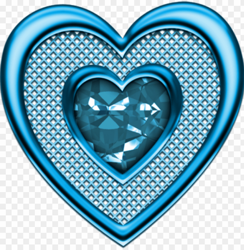 free PNG mq blue heart hearts diamond diamonds - heart PNG image with transparent background PNG images transparent