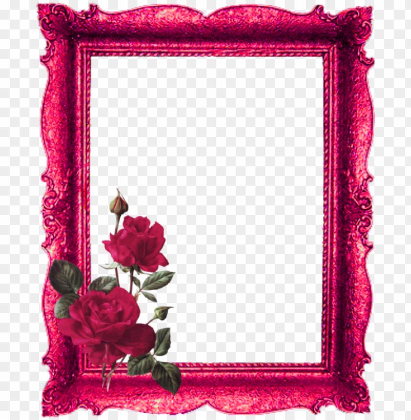 free PNG mq red roses frame frames border borders - picture frame PNG image with transparent background PNG images transparent