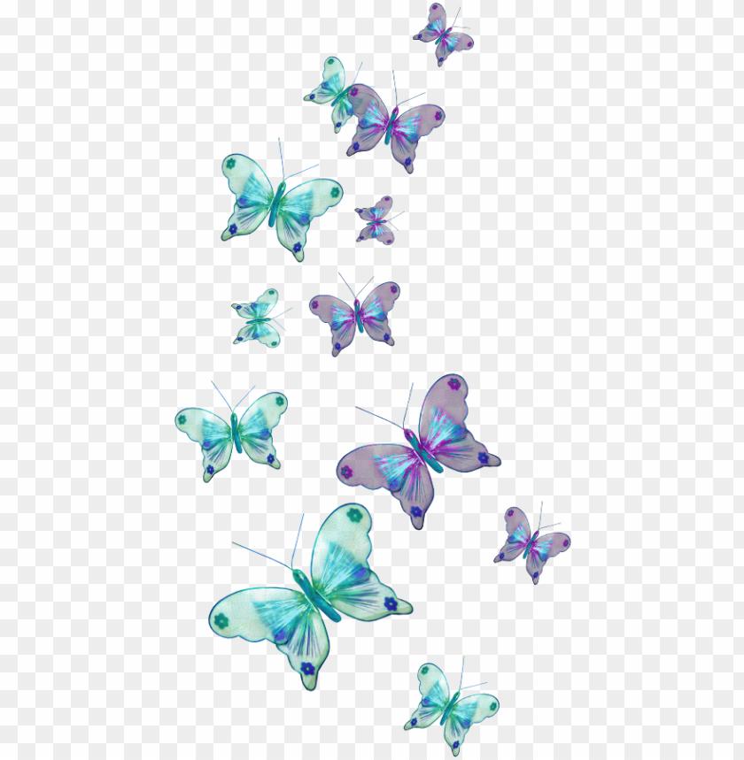 Aesthetic Blue Butterfly Emoji Wallpaper - Wallpaper HD New