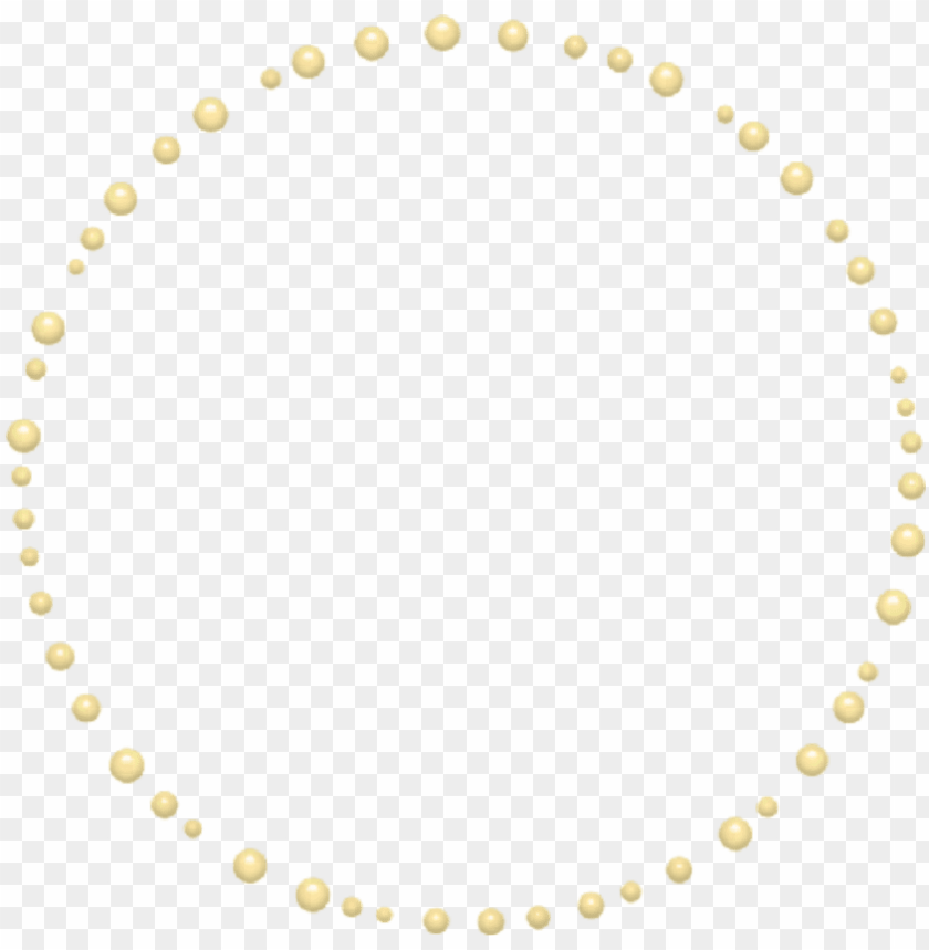 free PNG mq yellow pearls round frame frames border borders - cercle pointillé rond illustrator PNG image with transparent background PNG images transparent