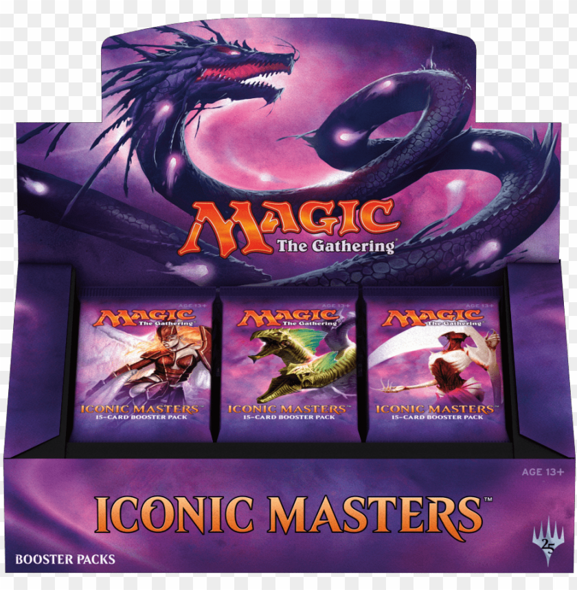 free PNG mtg magic iconic masters booster box - iconic masters booster box png - Free PNG Images PNG images transparent