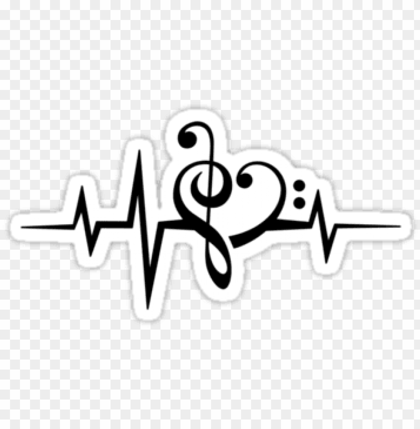 free PNG music heart pulse, love, music, bass clef, treble clef, - heartbeat with music notes PNG image with transparent background PNG images transparent