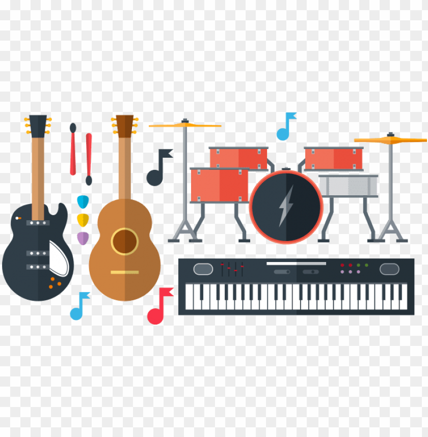 free PNG music instruments vector pack free png graphic cave - vector music instrument PNG image with transparent background PNG images transparent