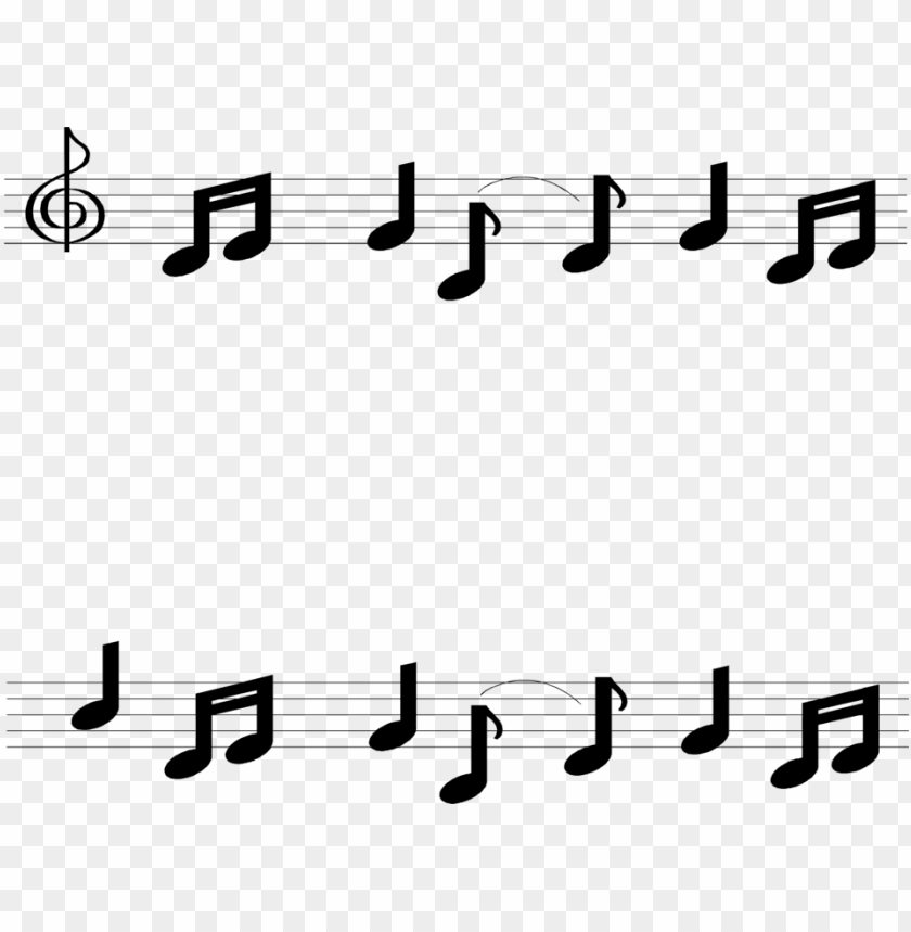 free PNG music note border - musical notes borders clip art PNG image with transparent background PNG images transparent