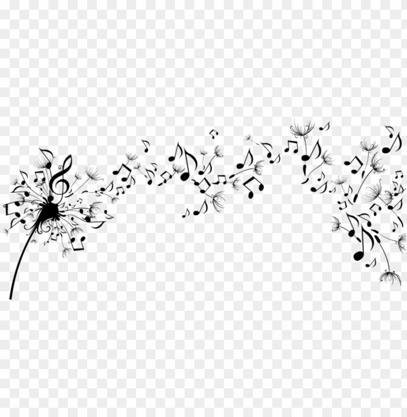 free PNG music notes - dandelion with musical notes PNG image with transparent background PNG images transparent