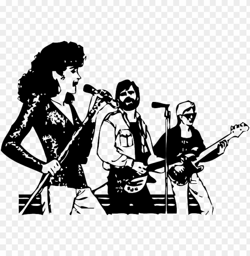 free PNG music, outline, people, singing, musical, guitar, group - music group clip art PNG image with transparent background PNG images transparent