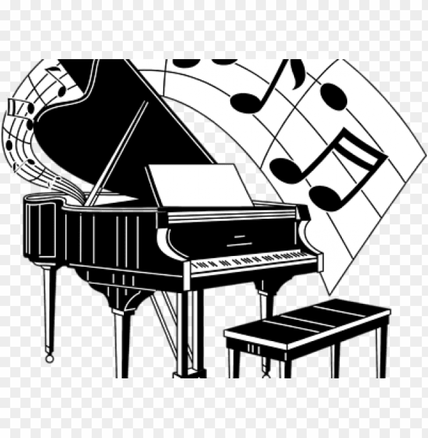 free PNG music piano cliparts - piano with music notes clipart PNG image with transparent background PNG images transparent