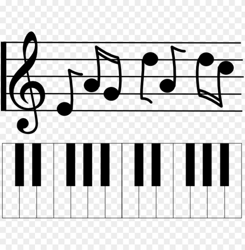 Music Staff Clipart Piano Note De Musique Png Image With Transparent Background Toppng