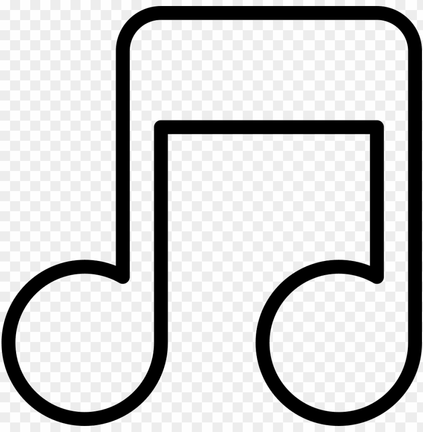 free PNG musical note outline comments - music note outline clipart PNG image with transparent background PNG images transparent