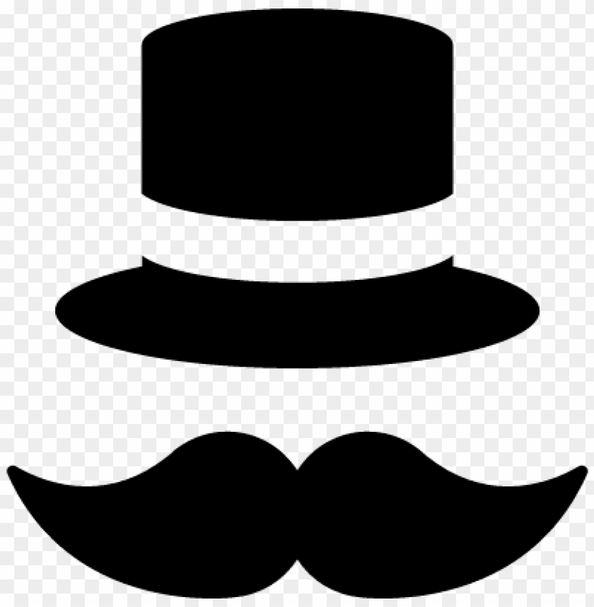 free PNG mustache and top hat vector - top hat and mustache clipart PNG image with transparent background PNG images transparent