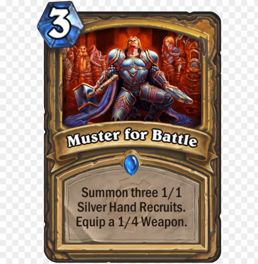 free PNG muster for battle card - hearthstone muster for battle PNG image with transparent background PNG images transparent