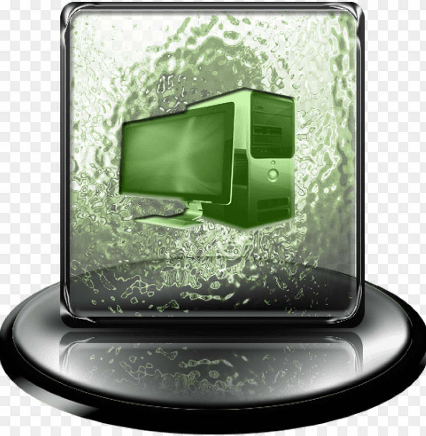 free PNG my computer icon png - green my computer ico PNG image with transparent background PNG images transparent
