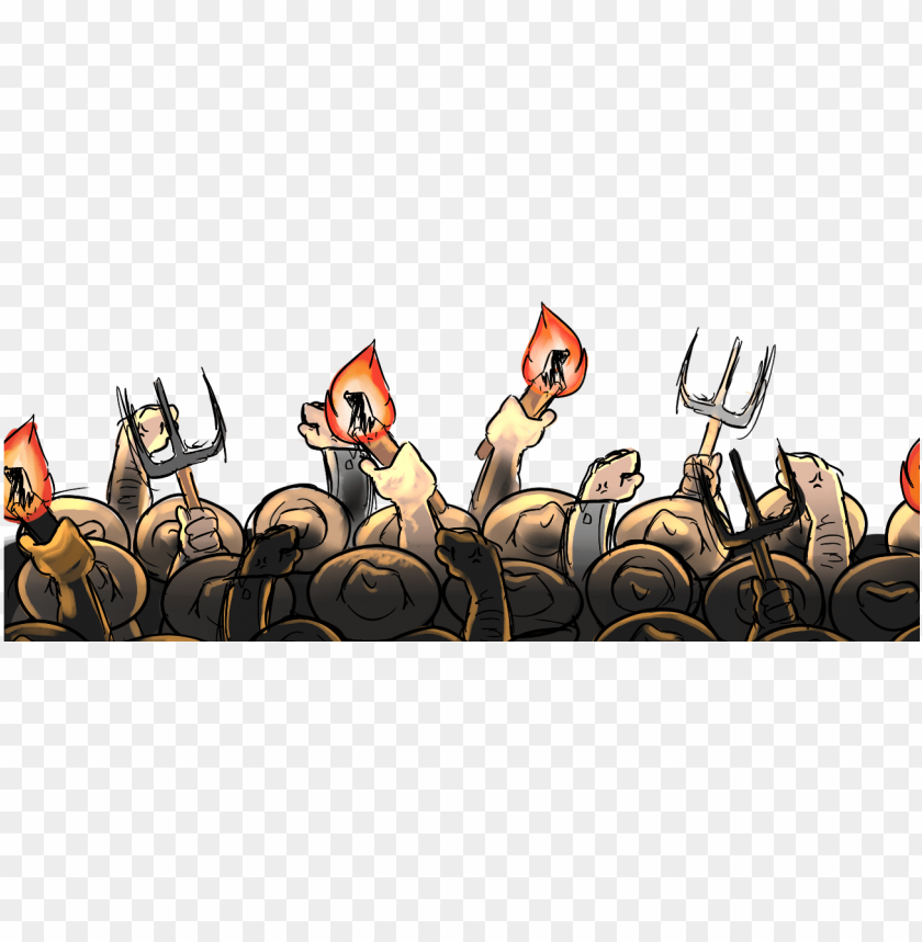 free PNG my fist sketch for the angry mob of medieval farmers - cartoon medieval angry mob PNG image with transparent background PNG images transparent