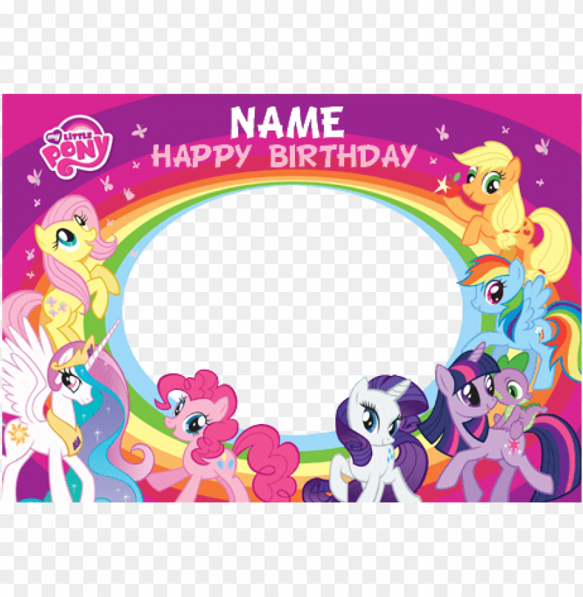 free PNG my little pony clipart happy birthday - my little pony happy birthday card PNG image with transparent background PNG images transparent