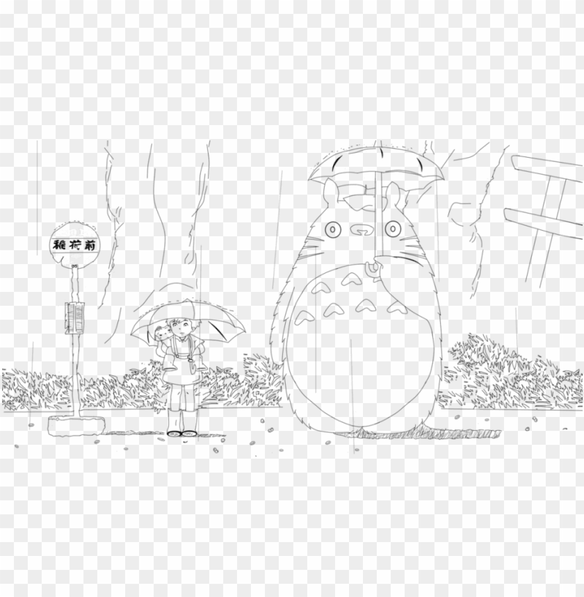 free PNG my neighbor totoro coloring pages PNG image with transparent background PNG images transparent