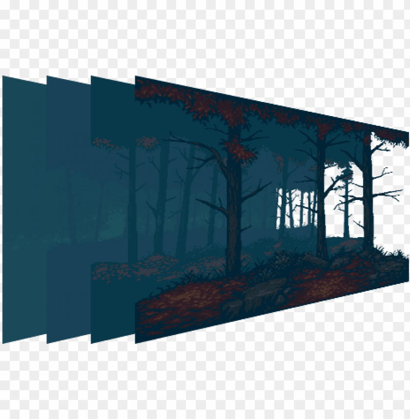free PNG mystery forest pixel art background - pixel art parallax background PNG image with transparent background PNG images transparent