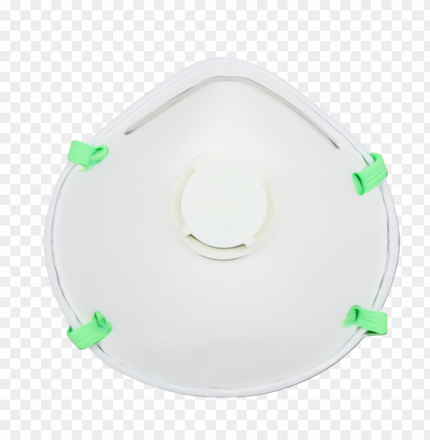 free PNG N95 Surgical Mask doctor White green ceiling headgear circle PNG image with transparent background PNG images transparent