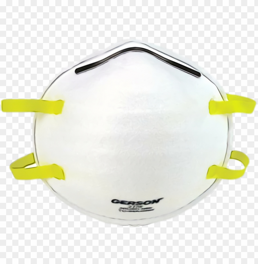 free PNG N95 Surgical Mask White yellow personal protective PNG image with transparent background PNG images transparent