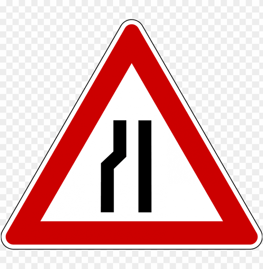 free PNG Download narrow road warning road sign png images background PNG images transparent