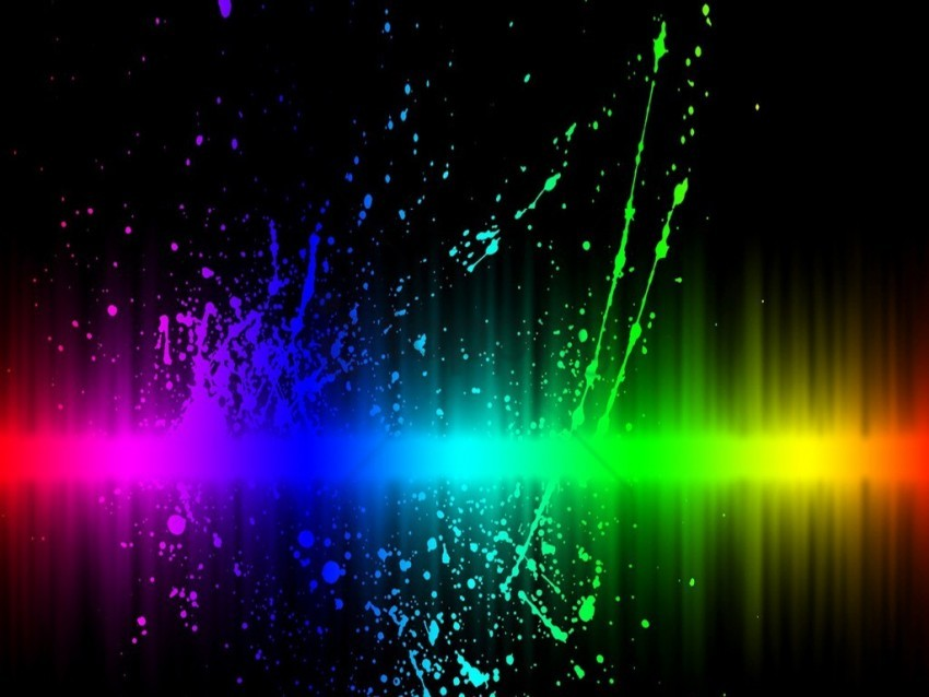 free PNG neon color splash wallpaper background best stock photos PNG images transparent