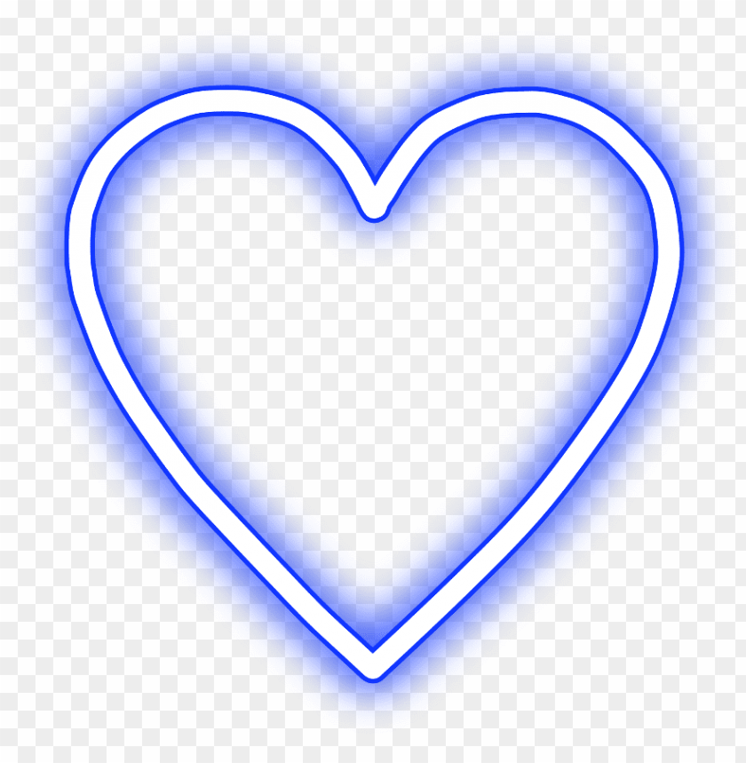 free PNG #neon #heart #love #freetoedit #blue #귀여운 #可愛い #mimi - pink neon heart transparent PNG image with transparent background PNG images transparent