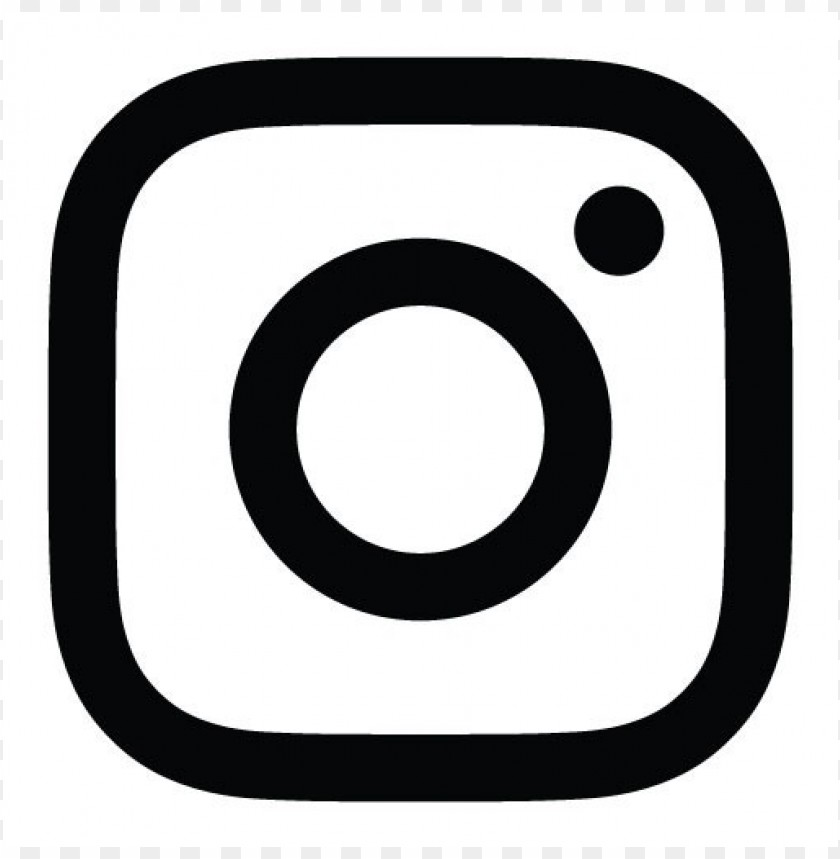 free PNG new instagram logo vector (black and white) PNG images transparent