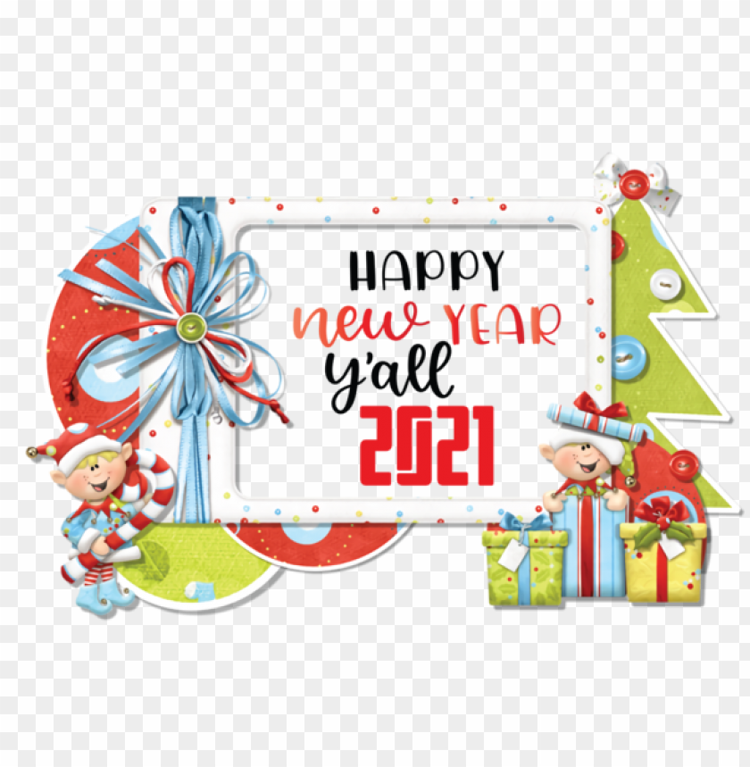 free PNG New Year Christmas Day Picture frame Christmas Frames for Happy New Year 2021 for New Year PNG image with transparent background PNG images transparent