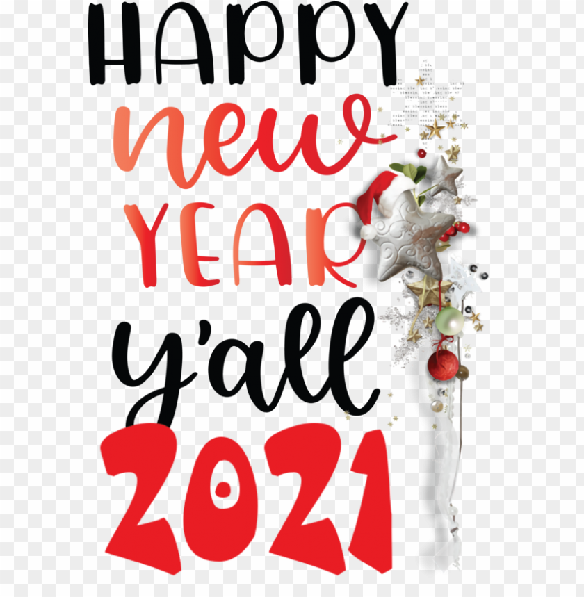 free PNG New Year Christmas decoration Christmas Day Calligraphy for Happy New Year 2021 for New Year PNG image with transparent background PNG images transparent