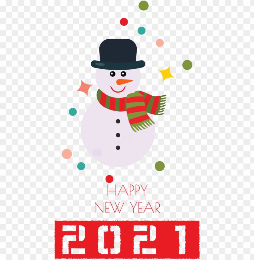 free PNG New Year Christmas tree Snowman Watercolor painting for Happy New Year 2021 for New Year PNG image with transparent background PNG images transparent