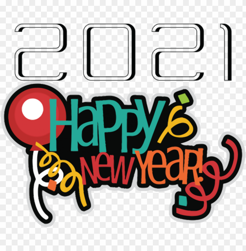 free PNG New Year Logo New Year's Day New Year's Eve for Happy New Year 2021 for New Year PNG image with transparent background PNG images transparent