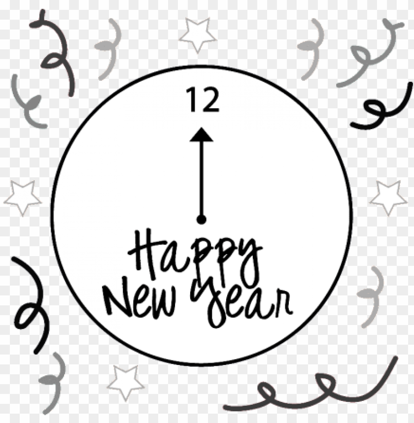 new years eve clock png image with transparent background toppng toppng