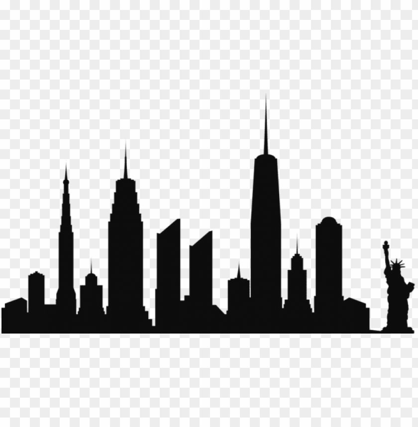 free PNG new york city skyline silhouette png png - Free PNG Images PNG images transparent