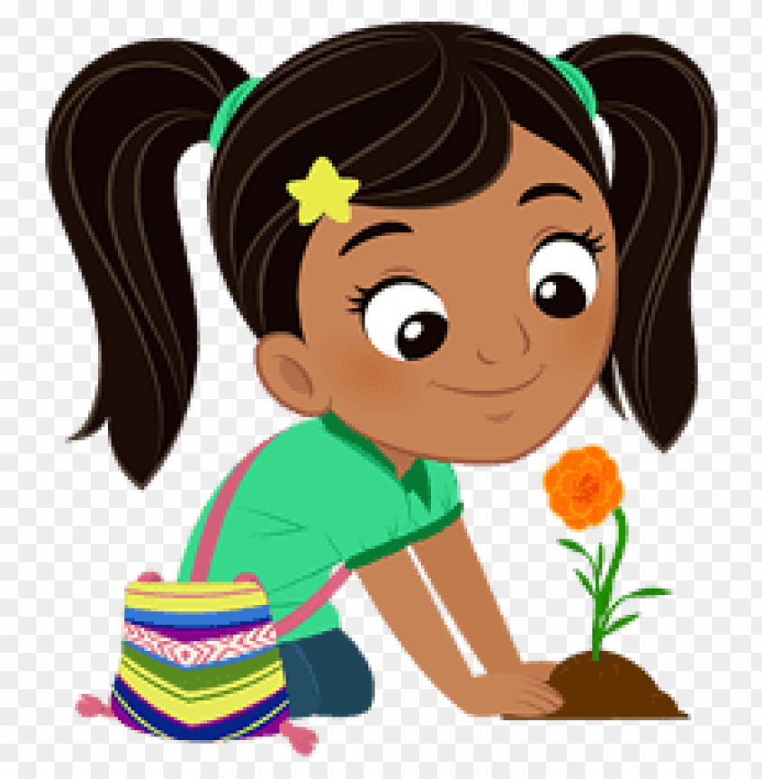 free PNG Download nina planting a flower clipart png photo   PNG images transparent
