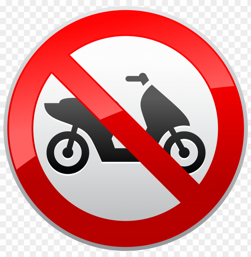 free PNG Download no motorcycles sign clipart png photo   PNG images transparent