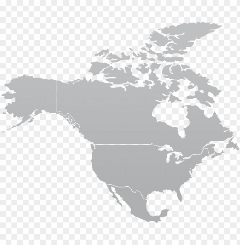 free PNG north america map gray PNG image with transparent background PNG images transparent