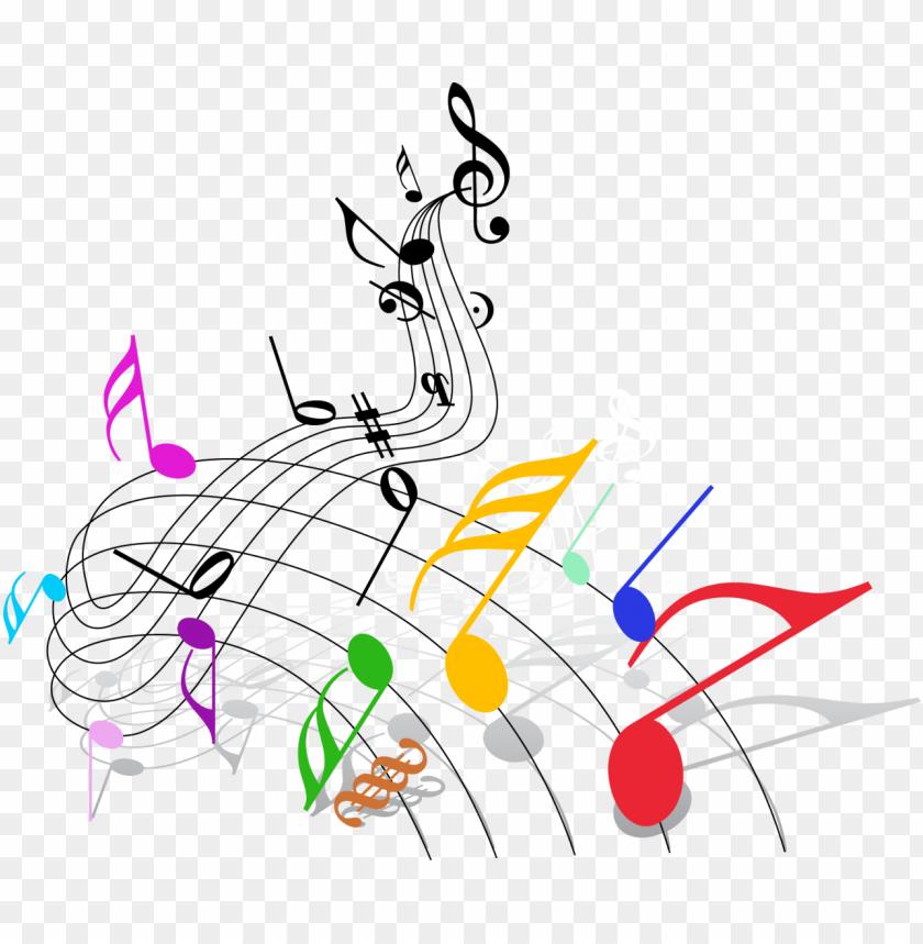 free PNG notas musicales de colores en PNG image with transparent background PNG images transparent