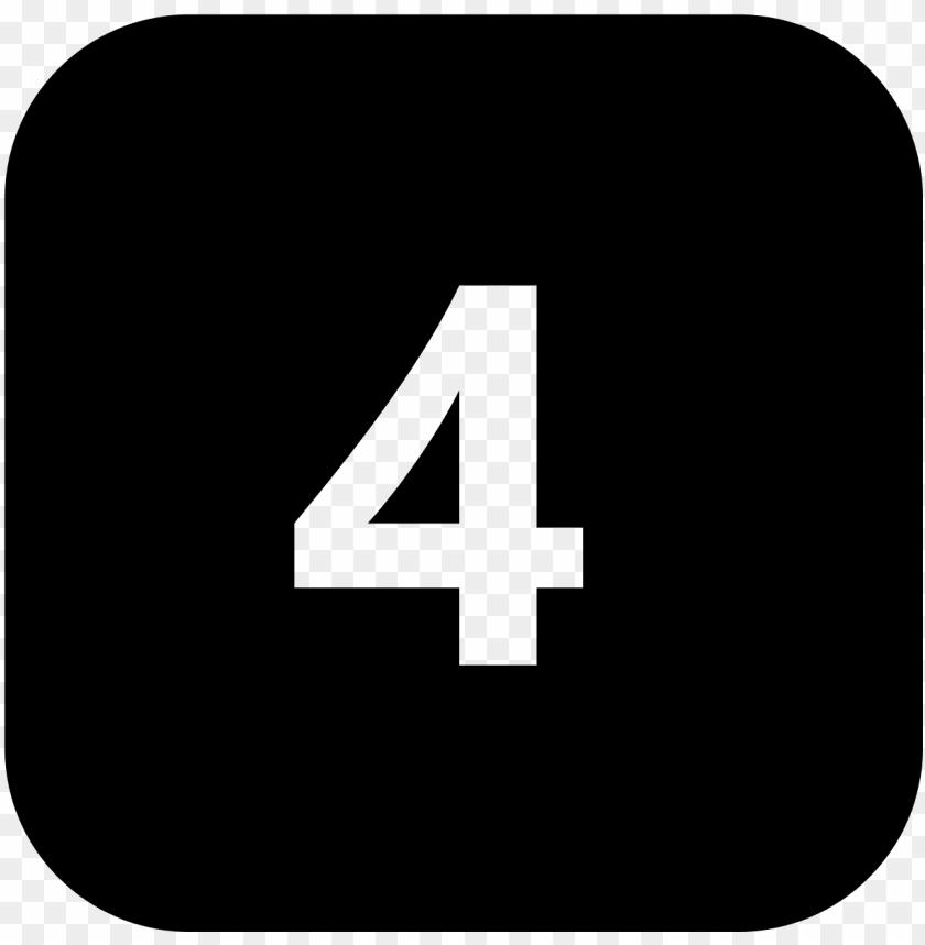 free PNG number 4 icon - number 4 icon png - Free PNG Images PNG images transparent