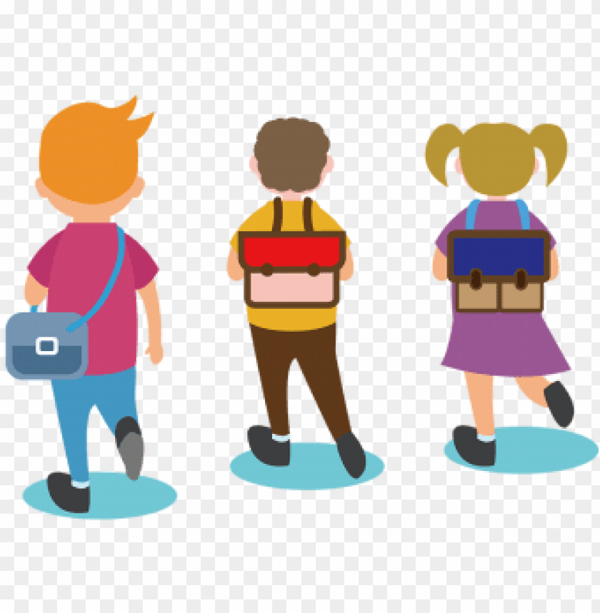 free PNG o to school, go to school, cartoon, vector png and - school going students png vector PNG image with transparent background PNG images transparent