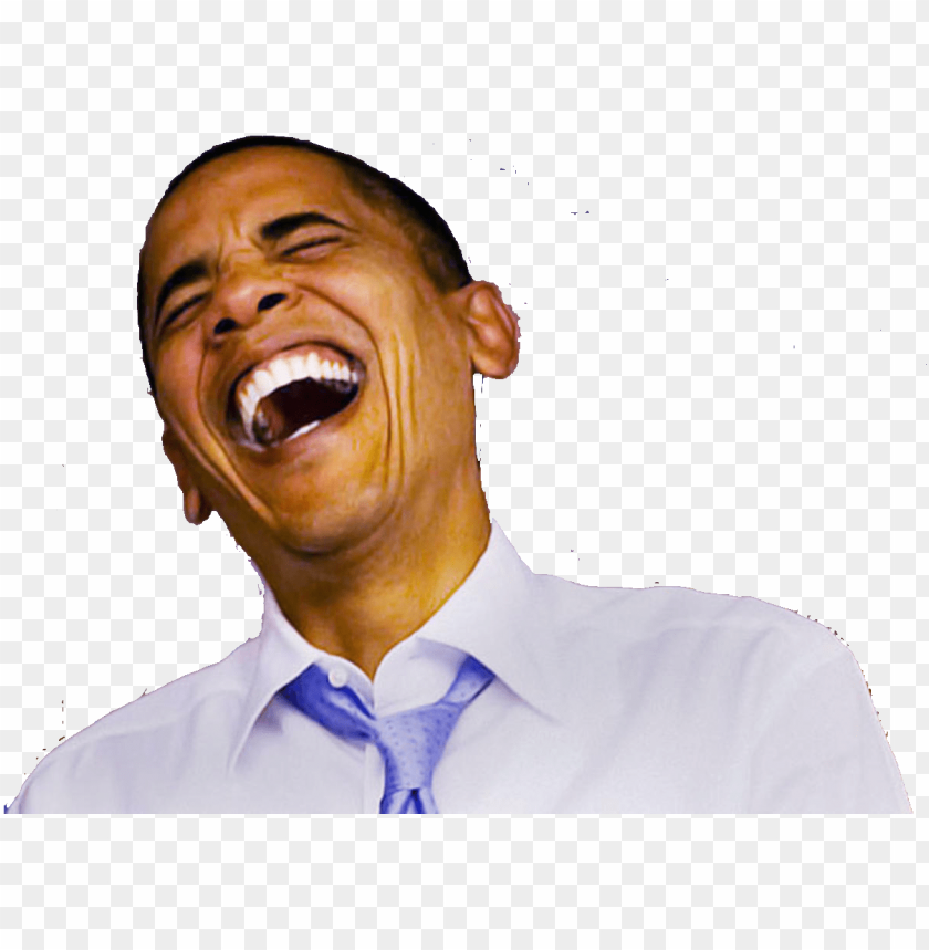Obama Laughing Png Obama Laughi Png Image With Transparent Background Toppng