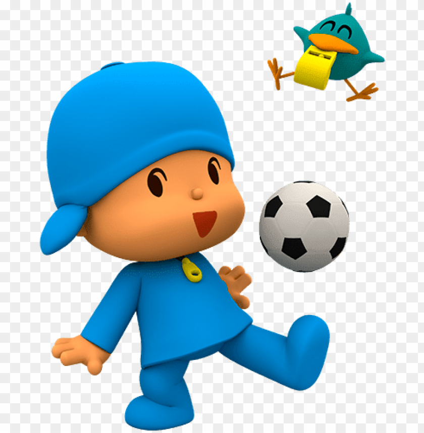 free PNG ocoyo playing football png - pocoyo play ball PNG image with transparent background PNG images transparent