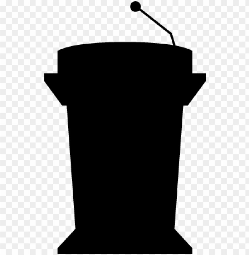 free PNG odium silhouette with microphone for presentation - microphone podium vector PNG image with transparent background PNG images transparent