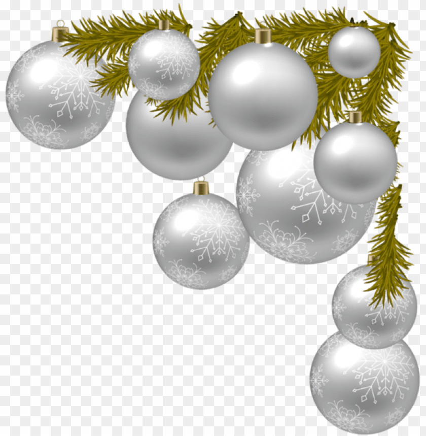 free PNG oel bordures christmas clipart, christmas images, - silver christmas decor PNG image with transparent background PNG images transparent