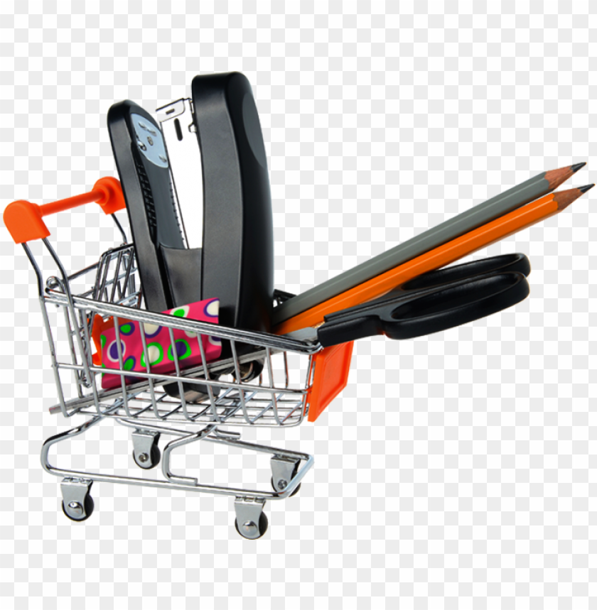 free PNG office and school supplies and tech accessories - office supplies shopping cart PNG image with transparent background PNG images transparent