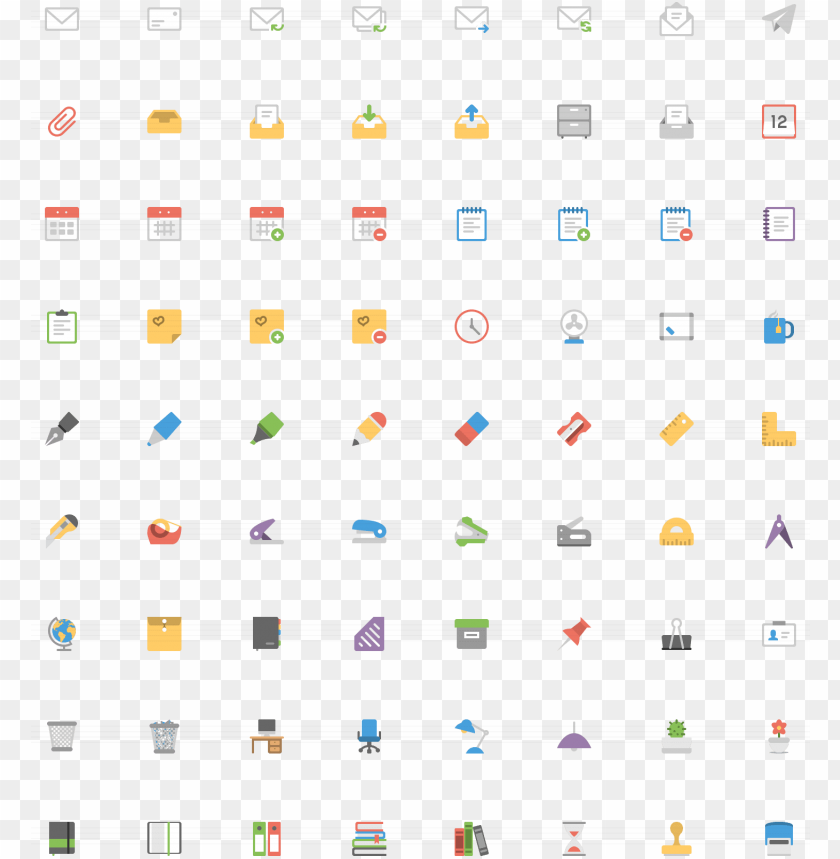 free PNG office flat icons - flat icon edit vector png - Free PNG Images PNG images transparent