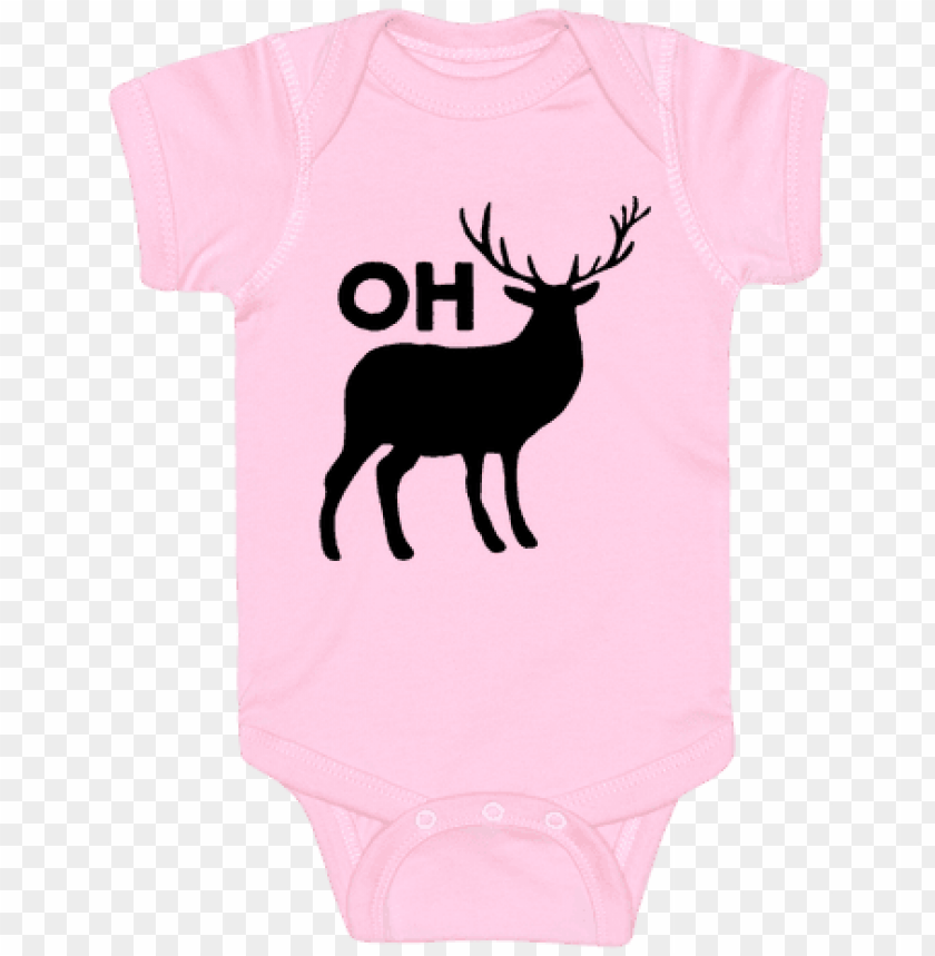 free PNG oh deer baby onesy - deer - jennifer pugh canvas art print PNG image with transparent background PNG images transparent