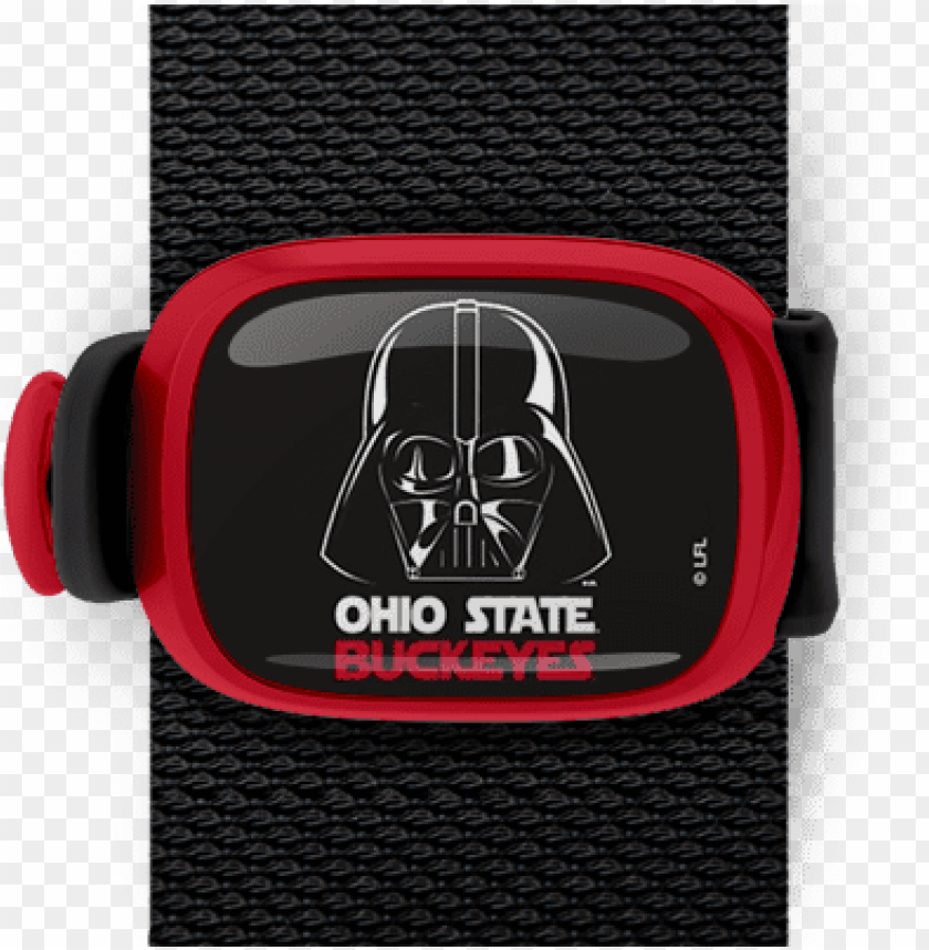 free PNG ohio state buckeyes darth vader on black stwrap - ohio state buckeyes official ncaa 11 inch x 17 inch PNG image with transparent background PNG images transparent