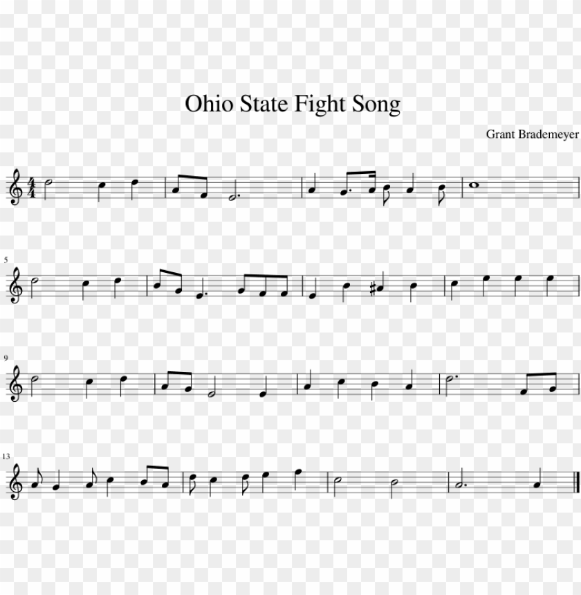 free PNG ohio state fight song sheet music composed by grant - malo mart sheet music PNG image with transparent background PNG images transparent